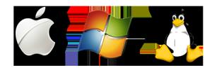 OS Logos: Apple, Windows, Linux