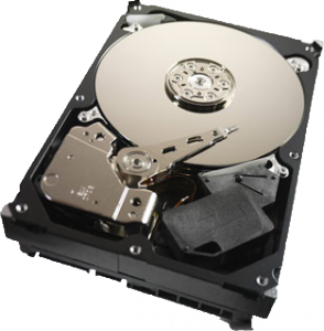 Hard drive with case removed